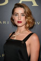 Amber Heard - Bulgari Haute Couture Cocktail Party in Paris, July 2015