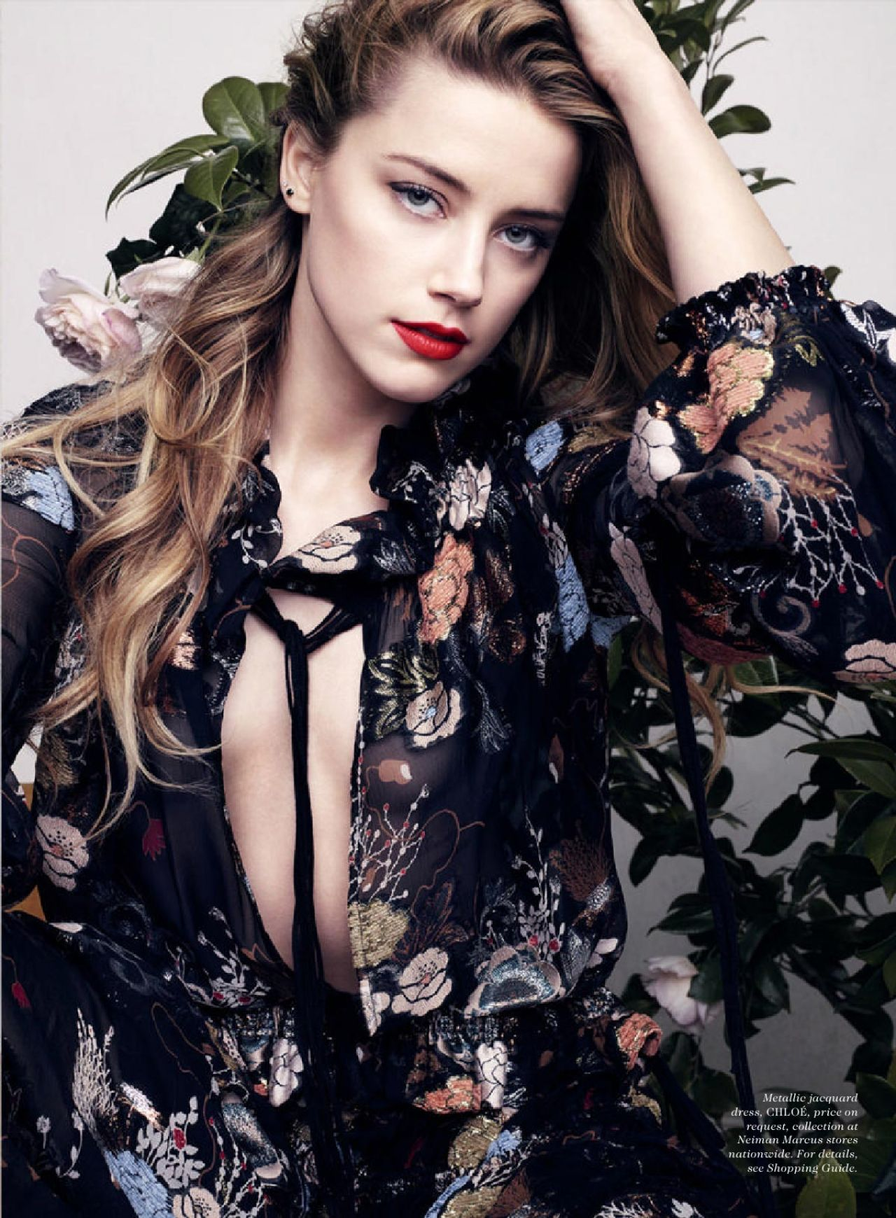 Fashion style Heard amber elle july for woman