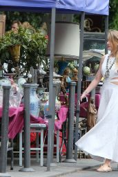 Amber Heard Street Fashion - Out in Paris, July 2015