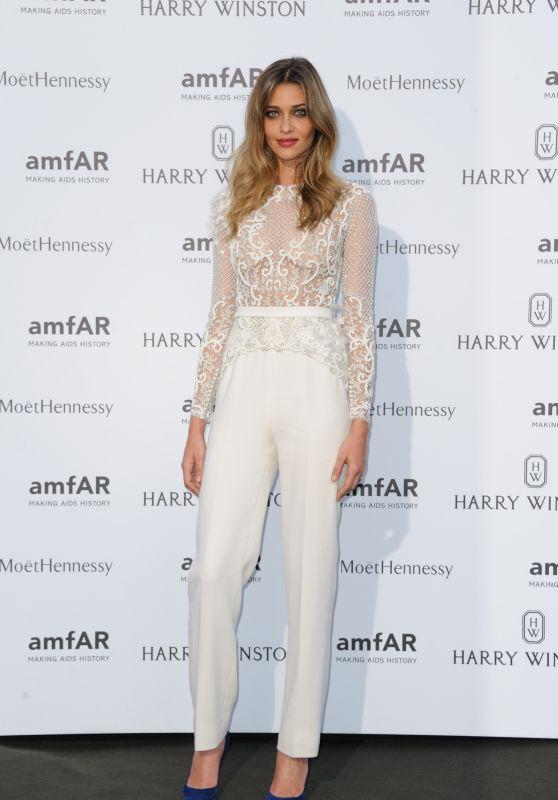 Ana Beatriz Barros on Red Carpet – amfAR Dinner in Paris, July 2015
