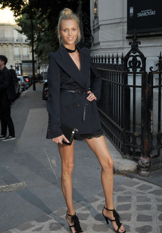 Anja Rubik – Vogue Party at Paris Fashion Week – July 2015