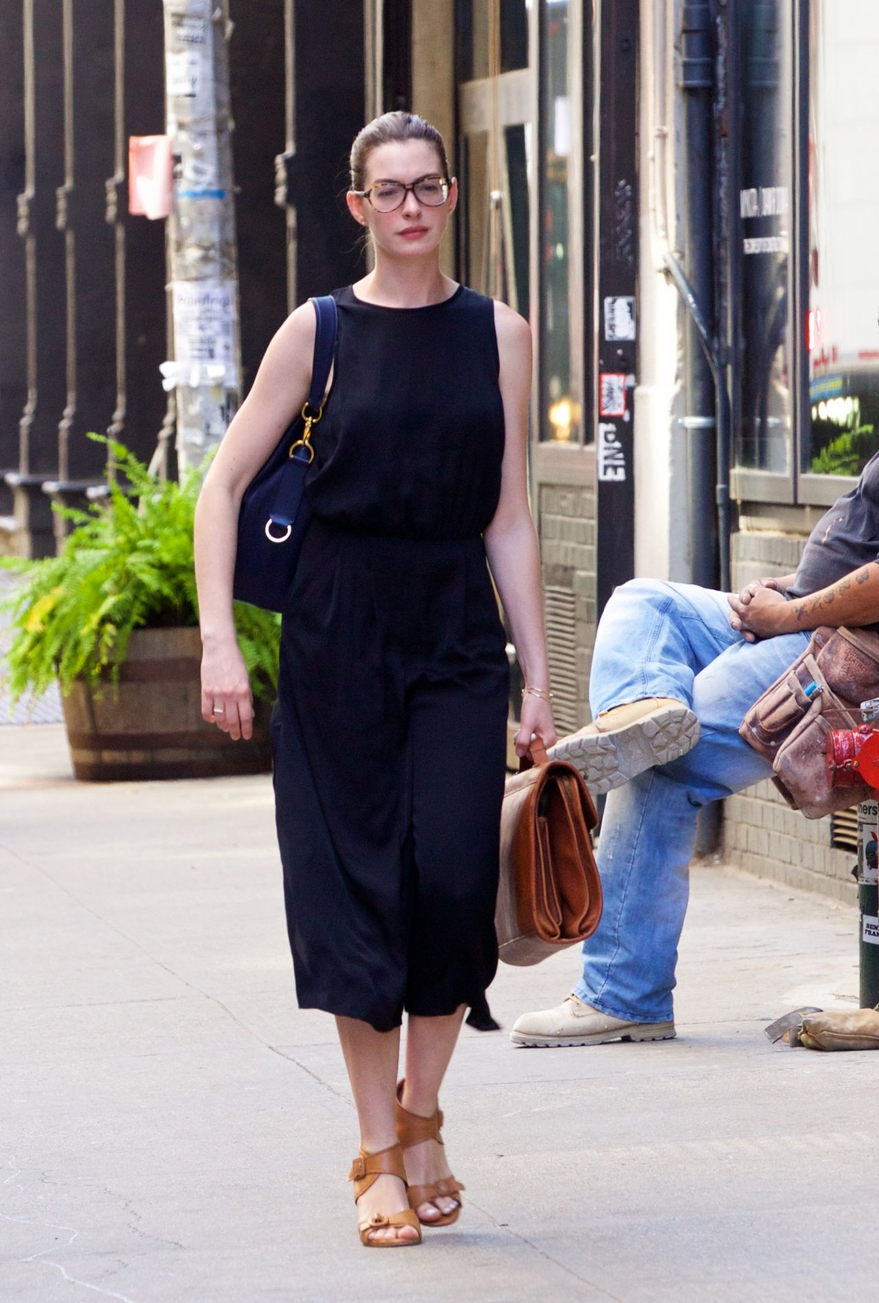 anne hathaway summer style out in new york city july 2015