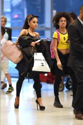 Ariana Grande Airport Outfit - at JFK, June 2015