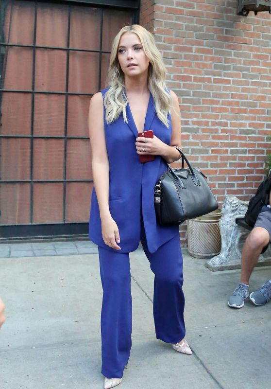 Ashley Benson - at HuffPost Live in New York City, July 2015