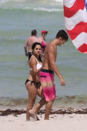 Becky G in a Bikini at Miami Beach - July 2015
