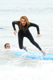 Bella Thorne at a Surf Camp in Malibu, July 2015