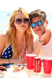 Bella Thorne in a Swimsuit at Beach in Malibu, July 2015