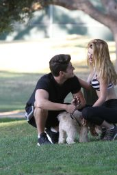 Bella Thorne in Leggings - Park in Los Angeles, July 2015