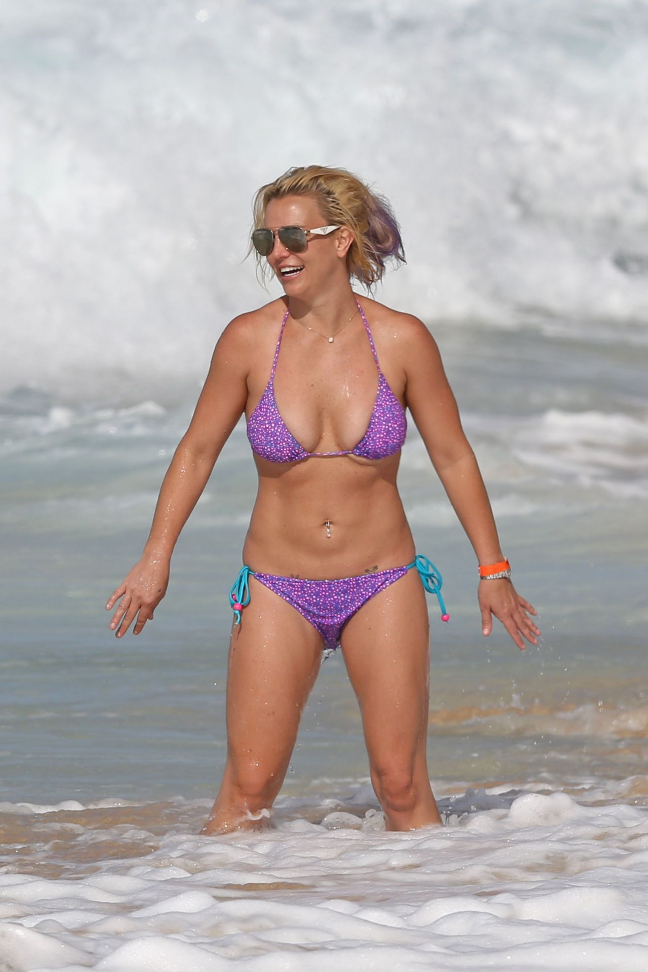 Britney spears naked beach touching words