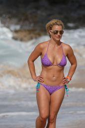 Britney Spears on a Beach in a Bikini in Hawaii, July 2015