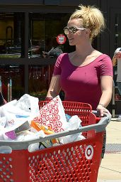 Britney Spears - Shopping at Target in Thousand Oaks, July 2015