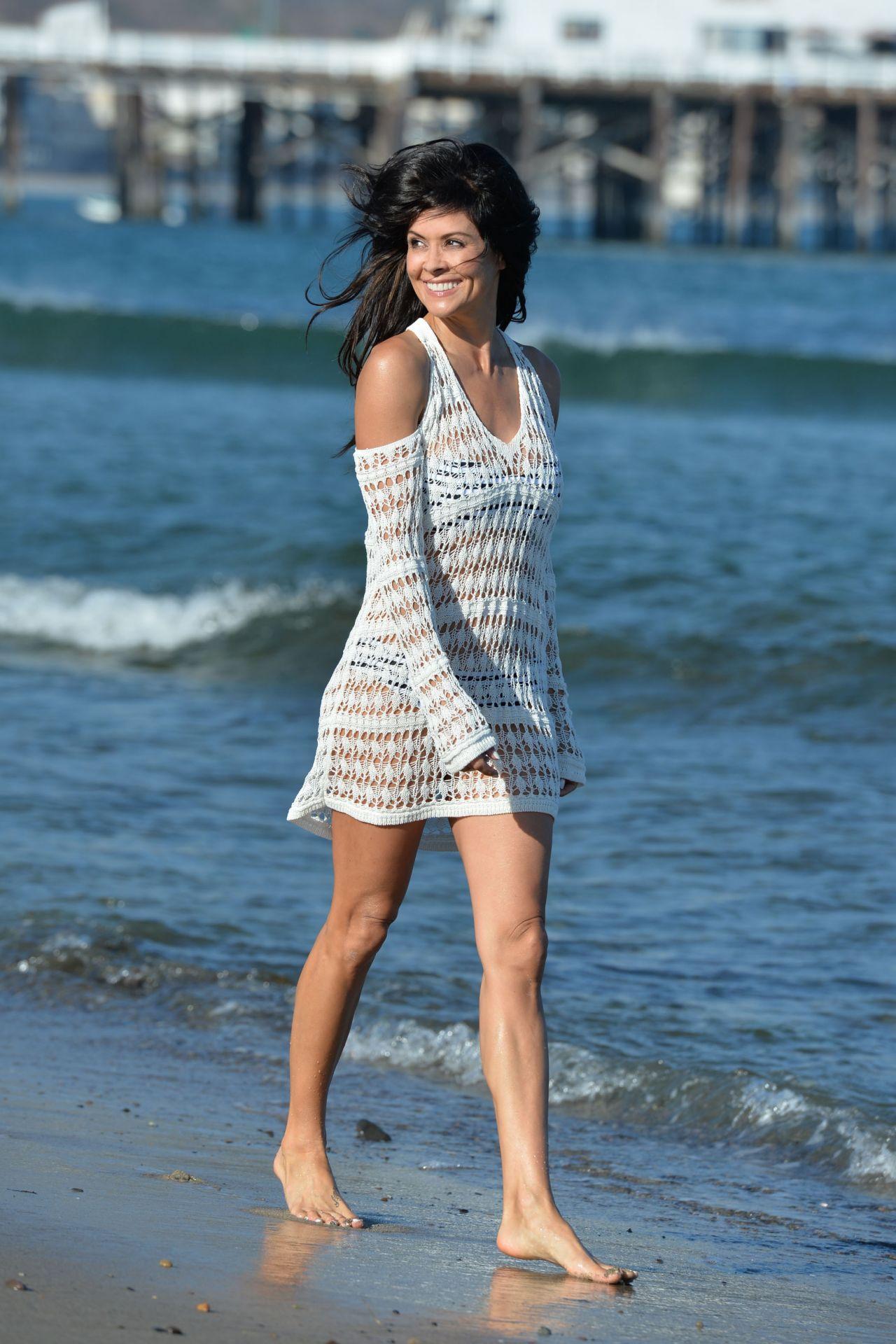 Brooke Burke In A Bikini On A Beach In Malibu July 2015