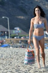 Brooke Burke in a Bikini on a Beach in Malibu, July 2015