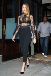 Cara Delevingne Fashion - Leaving a Hotel in New York City, July 2015