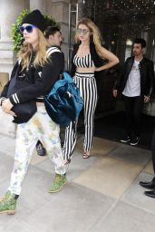 Cara Delevingne & Gigi Hadid - Leaving a hotel in London, June 2015