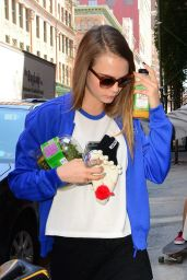 Cara Delevingne Street Style  - Out in SoHo, New York City, July 2015