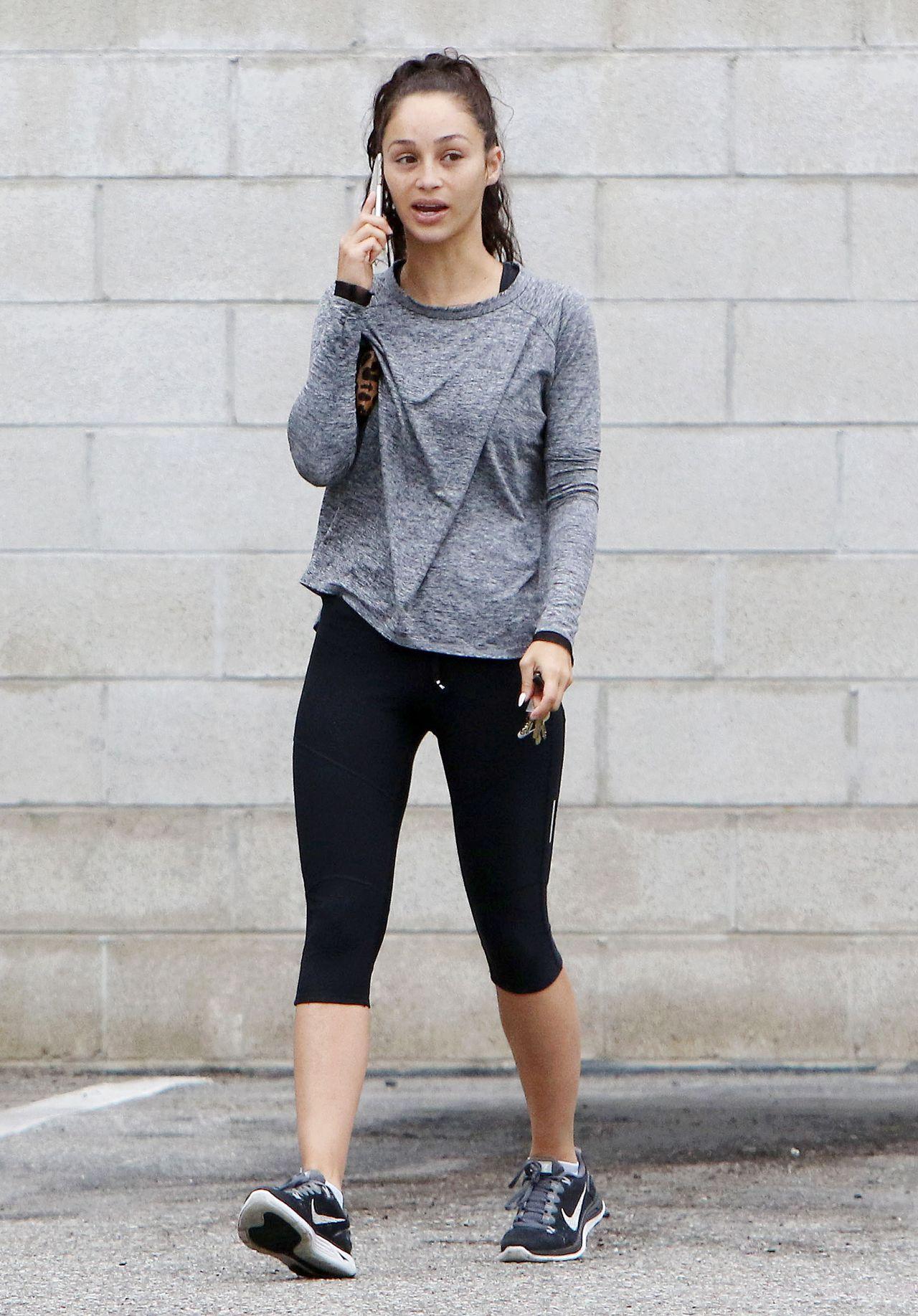 Cara Santana in Leggings - Leaving a Gym in Los Angeles ...