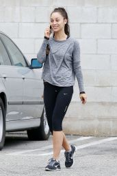 Cara Santana in Leggings - Leaving a Gym in Los Angeles, July 2015