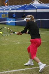 Caroline Wozniacki - Training at the AEGON International in Eastbourne, June 2015