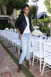 Chanel Iman – Just Jared & JustFab Summer Dinner Party in Malibu – July 2015