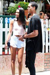Chanel Iman Leggy in Shorts - Out in LA, July 2015