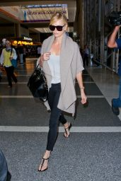 Charlize Theron Airport Style - LAX Airport in Los Angeles, July 2015