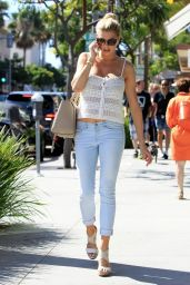 Charlotte McKinney in Jeans  - Out in Beverly Hills, July 2015