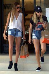 Chloe Moretz Leggy in Shorts - at Barneys New York in Beverly Hills, July 2015