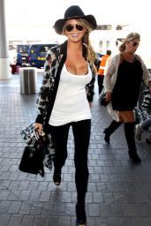 Chrissy Teigen Airport Fashion - LAX in Los Angeles, July 2015