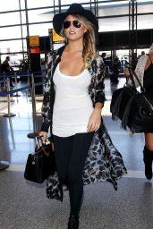 Chrissy Teigen Airport Fashion - LAX in Los Angeles, July 2015