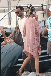 Chrissy Teigen on a Yacht in Saint-Tropez, France, July 2015