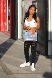 Christina Milian Booty in Jeans - at her We Are Pop Culture Pop Up Shop in LA, July 2015