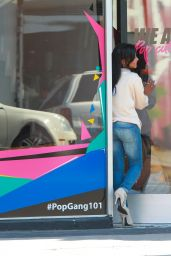 Christina Milian in Jeans at Her We Are Pop Culture Pop Up Shop in LA, July 2015