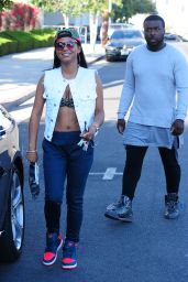 Christina Milian - Shopping at a Best Buy in Hollywood, Julz 2015