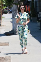 Crystal Reed - Leaving a Hair Salon in Beverly Hills, July 2015