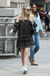 Dakota Fanning - Leaving iHop in Manhattan, July 2015