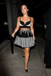 Demi Lovato Night Out Style - at Craig