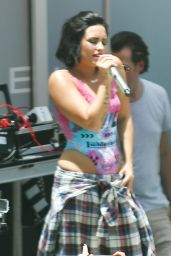 Demi Lovato Performs at Cool for the Summer Pool Party Tour in Miami - July 2015