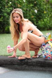 Denise Richards in a Bikini - Licking an Ice Cream in LA, July 2015