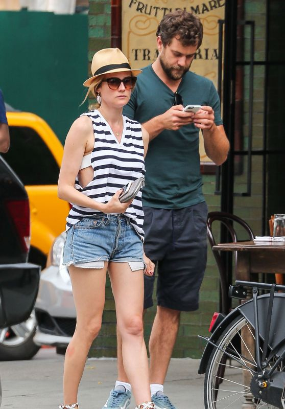 Diane Kruger & Joshua Jackson in New York City, July 2015