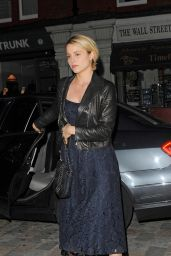 Dianna Agron Night Out Style - at the Chiltern Firehouse in London, June 2015