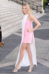 Elena Perminova at the Versace Fashion Show in Paris, July 2015