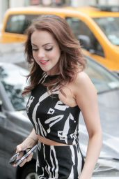 Elizabeth Gillies Style 2015 - at HuffPost Live in NY