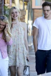 Elle Fanning - Headed for Dinner in Studio City, July 2015