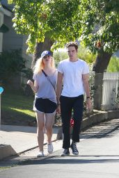 Elle Fanning Street Style - Out in Studio City, July 2015