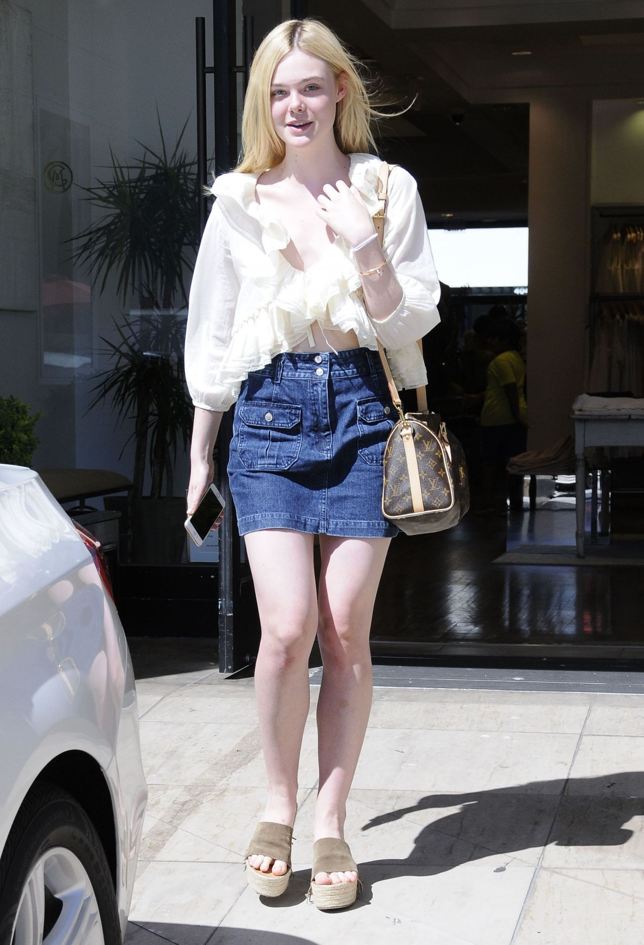 Elle Fanning Summer Casual Style Beverly Hills July 2015