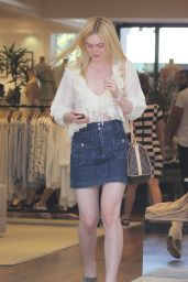 Elle Fanning Summer Casual Style - Beverly Hills, July 2015