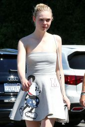 Elle Fanning Summer Style - Out in West Hollywood, July 2015