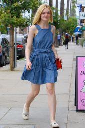 Elle Fanning Summer Style - Outside a Nail Salon in Studio City, July 2015