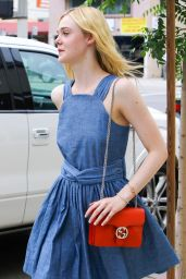 Elle Fanning Summer Style - Outside a Nail Salon in Studio City, July 2015